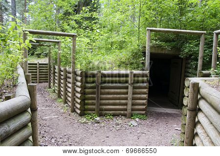 military trench