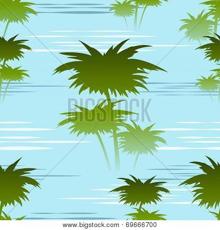 morning jungles seamless pattern
