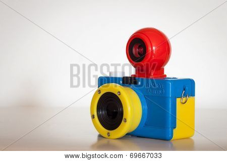 Closeup Of Fisheye Baby 110 Bauhaus Analog Camera