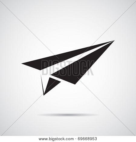 Paper plane vector icon