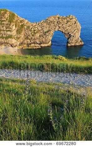 Natural Archway At Jurassic Coast