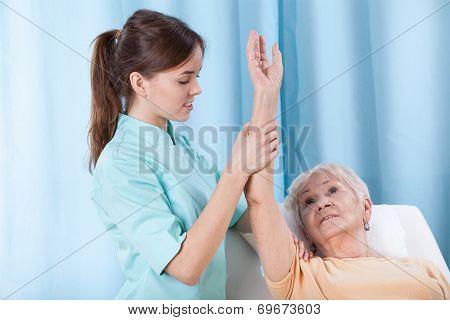 Arm Rehabilitation On Treatment Couch