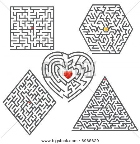 Collection of vector mazes.