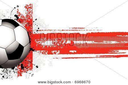 English  Flag And Football