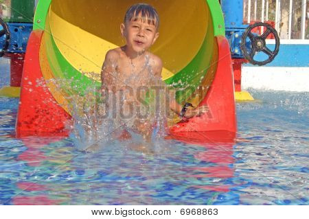 Boy In The Water Park