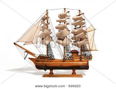 Model Of A Historic Ship