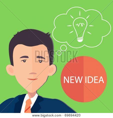 businessman with an idea - flat design vector