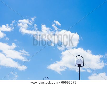 Blue Sky And Cottony Clouds