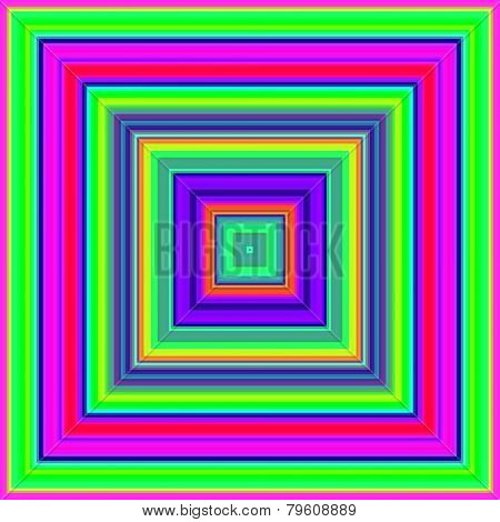 Psychedelic colors square shapes abstract.