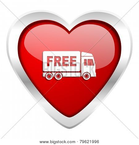 free delivery valentine icon transport sign