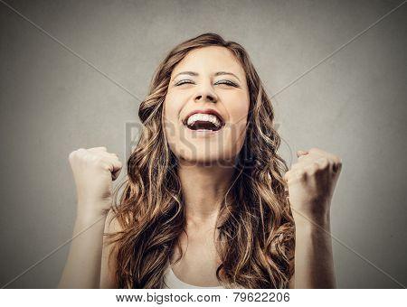 Jubilating girl