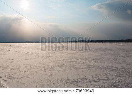 River With Ice