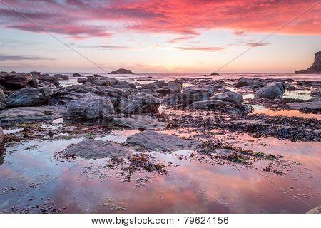 Stunning trevellas porth sunset