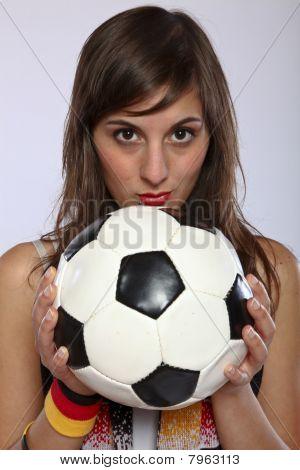 Serious German Soccer Fan Girl