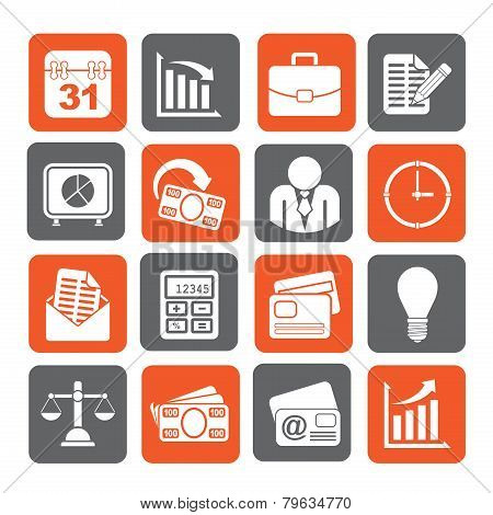 Silhouette Business and office icons