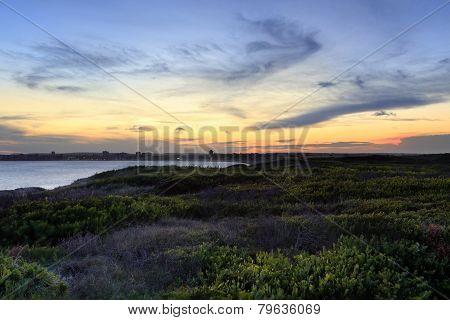 Last Light Sundown At Greenhills Beach Nsw Australia