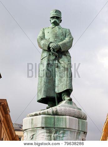 Statue Ov Umberto I In Naples