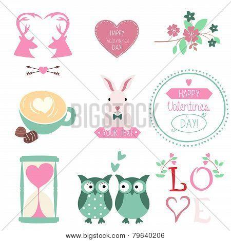 Valentines Day vector set