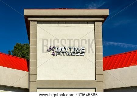 Anytime Fitness Sign And Exterior