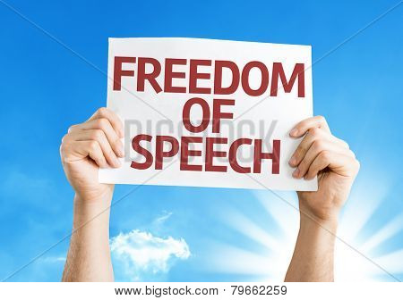 Freedom of Speech card with a beautiful day