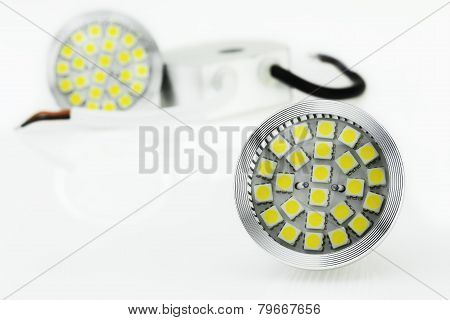 Two Mr16 Led Bulbs  And 12V Power Supply