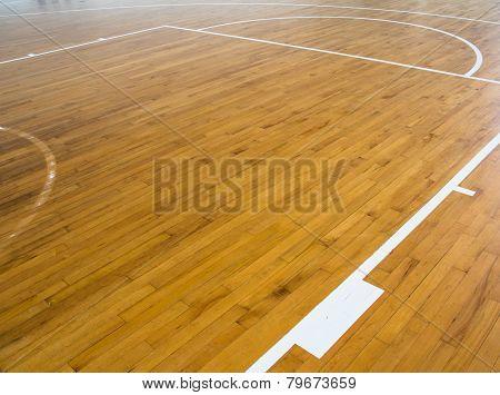 Wooden Floor Basketball