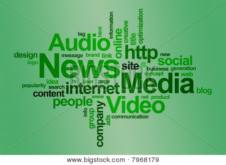 Nieuws en media - word cloud