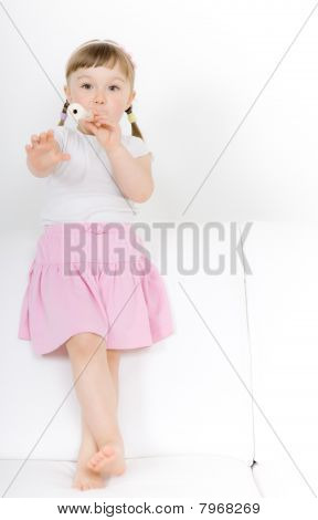 Little Girl With Instrument