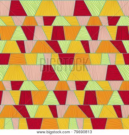 Abstract mosaic pattern. Seamless vector.