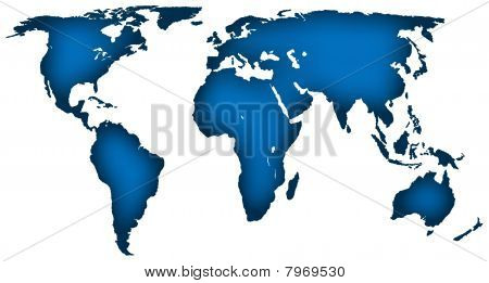 Corporate blue map of the world