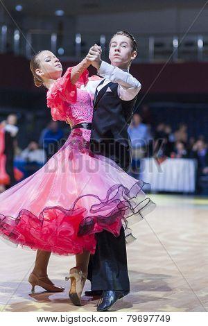 Gritcan Artem and Zagrebailova Yana perform Juvenile-1 Standard European program