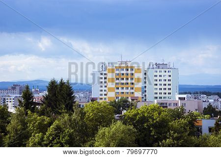 View Of The City Of Hradec Kralove With Prefabs