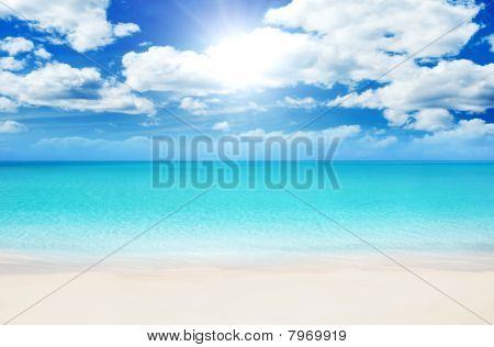 Beach At Summer