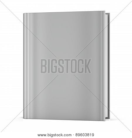 Blank Book Empty Clean White Bookcase Template Brochure