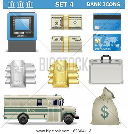 Vector Bank Icons Set 4