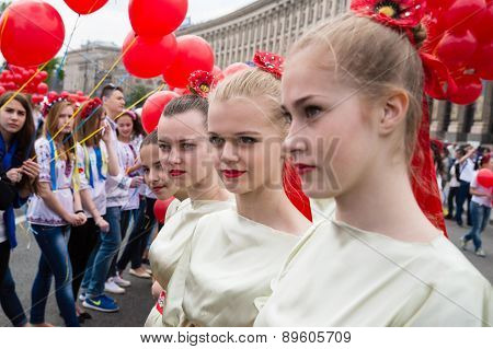 Flashmob Poppies Of Memory In Kyiv