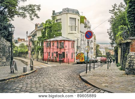 Street In Montmartre, Paris, France