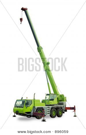 Isolated Mobile Crane