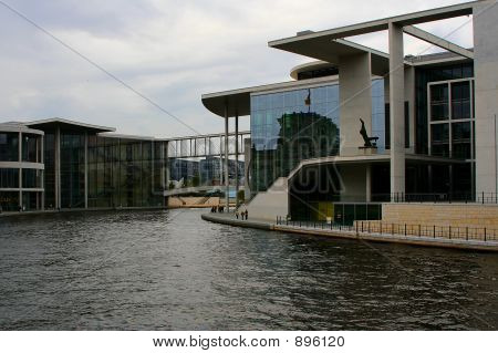Berlin Governmental Buildings At River Spree