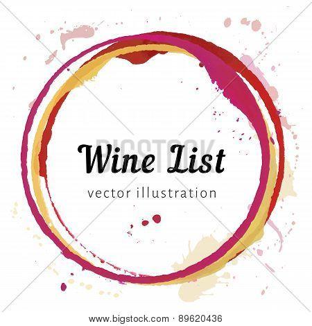 Wine stain circles