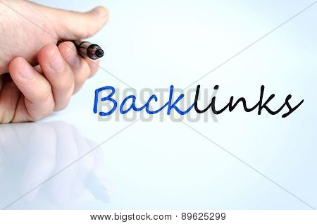 Pen In The Hand Backlinks Concept
