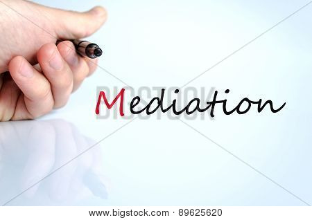 Pen In The Hand Mediation Concept