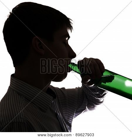 Young Man With A Beer