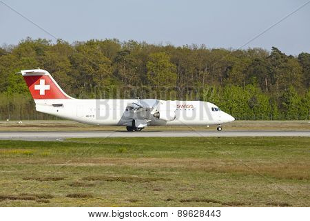 Frankfurt Airport - Avro Rj100 Of Swiss International Air Lines Takes Off