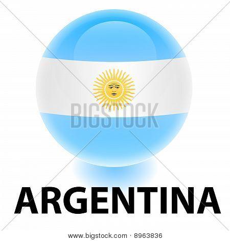 Orb Argentina Flag