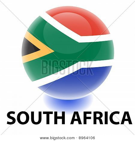 Orb South Africa Flag. Vector EPS. Isolated on White poster