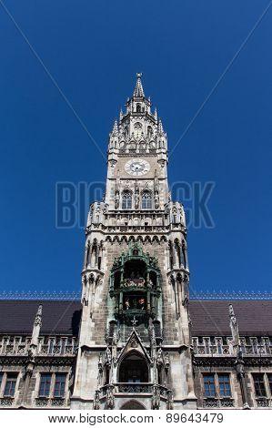 New City Hall Of Munich At Marienplatz, Germany, 2015