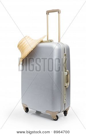 Travel bag and straw hat