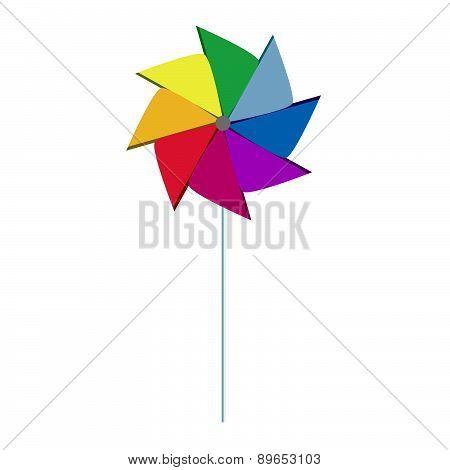 Pinwheel Colorful Like Rainbow