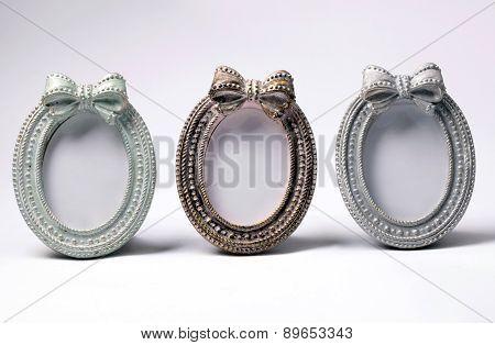 Tree Ornate Vintage Oval Shape Picture Frames
